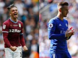 Grealish and Maddison could be snapped up by Man Utd this winter. AFP/EFE