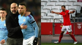 Benfica y City llegan a un acuerdo por Rúben Dias y Otamendi. AFP