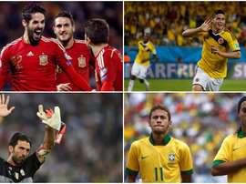 Ronaldinho, Neymar, James, Isco et Buffon, 08-10-17. BeSoccer