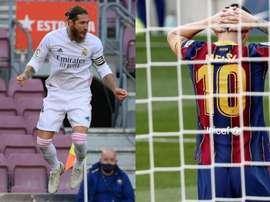 No duelo de capitães, Sergio Ramos derrotou Messi. AFP - EFE