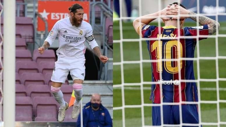 Ramos le ganó la partida a Messi claramente. AFP - EFE
