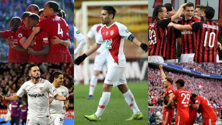 Lo que resta por definir en las grandes ligas europeas. EFE/AFP