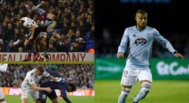 Los futbolistas que más faltas reciben en menos tiempo. Montaje/AFP/EFE