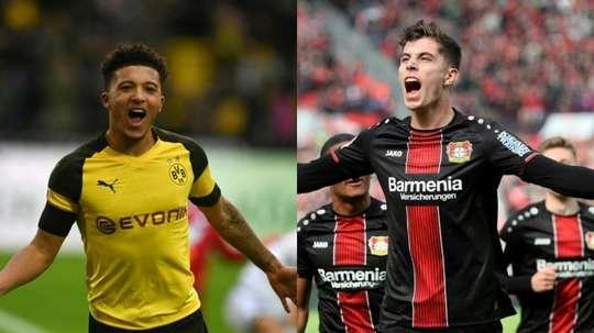 El futuro es ahora: Sancho vs Havertz. AFP
