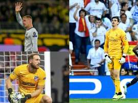 The three best goalkeepers in the world. AFP/EFE