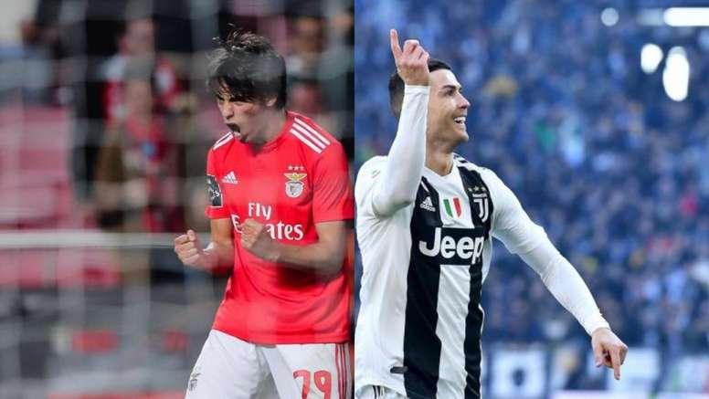 João Félix vs Cristiano: discípulo chega com mais gols. AFP