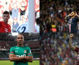 Quatro emprestados pela Inter que podem render 130 milhões. AFP