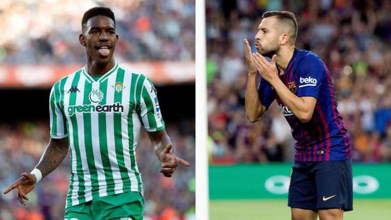 Junior llega avalado por los números para discutirle el puesto a Jordi Alba. EFE
