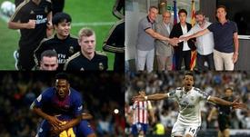 Barça et Madrid et des recrutements au-delà du terrain. EFE-AFP