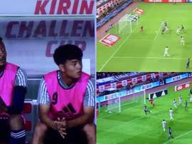 Japón voló sobre Paraguay. Capturas/Twitter/soccermaniablog
