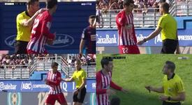 Morata se enfadó muchísimo con el colegiado. Capturas/beINSports