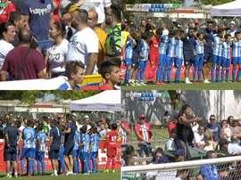 Los alevines del Málaga dieron un ejemplo sensacional. Captura/CanalSur