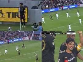 Exhibición de Vela: dos asistencias y gol. Captura/MLS