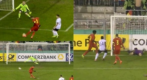 Vanheusden had an eventful game for Belgium U21. Captura/GermanFootball