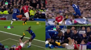 The VAR did not deem this to be a red card offence. Captura/DAZN