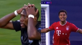 Ekambi missed and Gnabry scored for Bayern at the other end. Capturas/Movistar