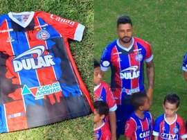 Bahía subastará sus camisetas para luchar contra los vertidos. Bahia/Globoesporte
