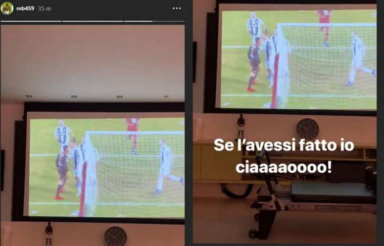 Balotelli commente l'action. Instagram/mb459