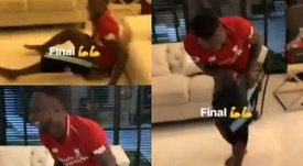 Keita danse sur une jambe pour célébrer la victoire. Instagram/keitanabydeco