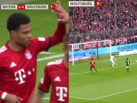 Gnabry et Lewandowski ont permis au Bayern de prendre les devants. Captures/BeinSports