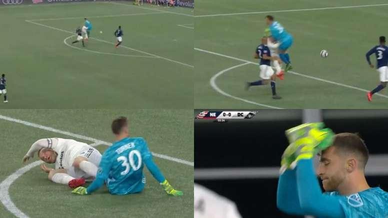La brutal entrada a Rooney que definió como 'chocar con un camión'. Capturas/MLS