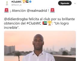 Mundial de Clubes. Twitter/FIFACOM_ES