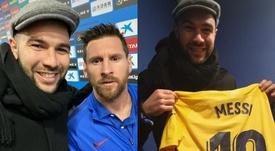¿Quién se quedó la camiseta de Messi, Grillo o Vargas? Twitter/SC_ESPN