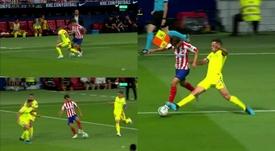 Joao Félix emuló a Messi y Maradona para forzar un penalti. Capturas/Movistar