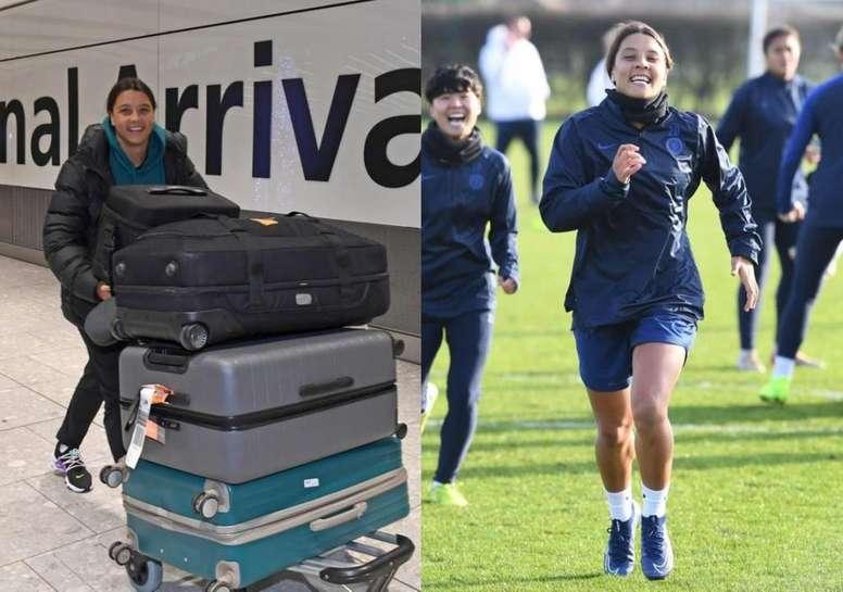 Sam Kerr debutará con el Chelsea como regalo de Reyes. Twitter/ChelseaFCWomen