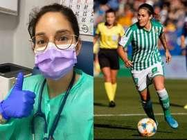 Una de las primeras de la Liga en ejercer de médica. Twitter/AnaRomeroMoreno/LaLiga