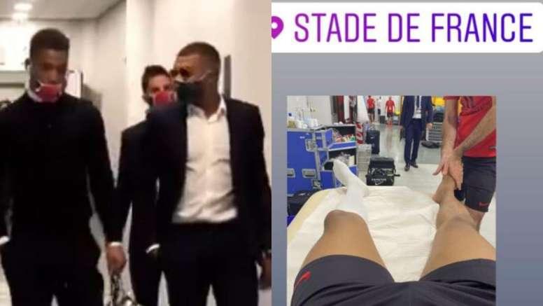 Mbappé apareció en el Stade de France para animar al PSG. Captura/InstagramPSG