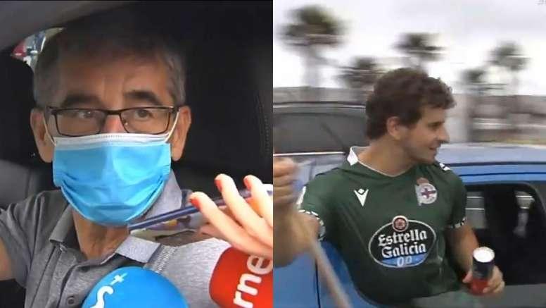 Fernando Vázquez y el deportivismo se manifestó pidiendo justicia. Captura/Vamos
