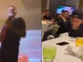Icardi fez todos rirem ao cantar em seu trote no PSG. Instagram/MauroIcardi