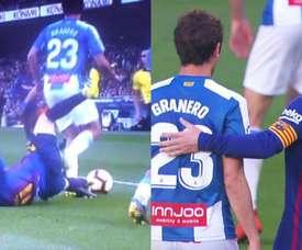 Messi met une semelle à Granero. Capturas/LaLiga
