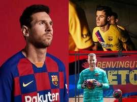 Os uniformes da próxima temporada na Espanha. FCBarcelona