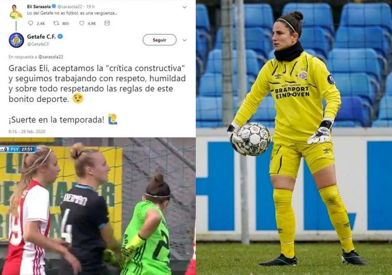 La español criticó el juego del Getafe. Twitter/GetafeCF/ChristianDíez