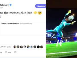 Batshuayi joked about Kepa incident versus Ajax on Twitter. Twitter/MichyBatshuayi