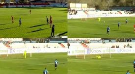 Así fue el golazo de Navarro en el Alcalá-Rayo B. Capturas/footters
