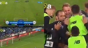 Lech Poznan missed three consecutive penalties. Screenshot/kizoa