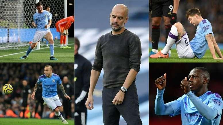 Guardiola has spent 474.7 million euros on defenders for Man City. AFP