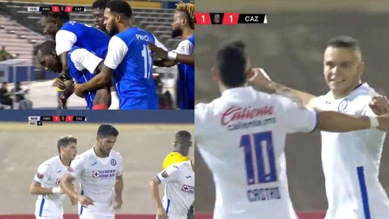 Portmore se adelantó con un golazo pero Cruz Azul remontó. Capturas/Concachampions