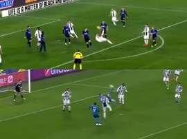 Cristiano no tuvo fortuna en esta ocasión. Captura/Gol/Movistar