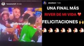 Así celebraron los ex River la clasificación. Instagram