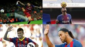 Neymar es el que atrajo a más afición en su presentación con el Barcelona. AFP
