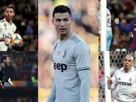 Cristiano, Messi, Casillas, Ronaldo, Ramos... o onze de Negredo. EFE/AFP