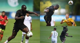 Images de Lukaku durant son premier match. Inter