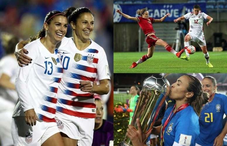 Las estrellas de las 24 selecciones del Mundial Femenino. EFE/AFP