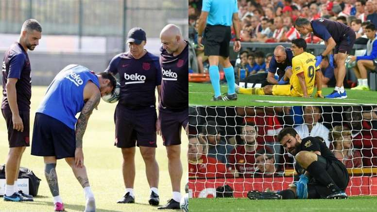 El sóleo es la lesión de moda en el fútbol. EFE - AFP