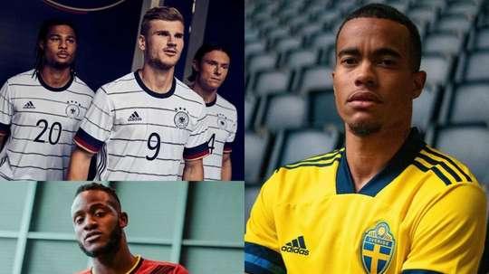The new shirts for teams at the Euro 2020... AdidasFootball