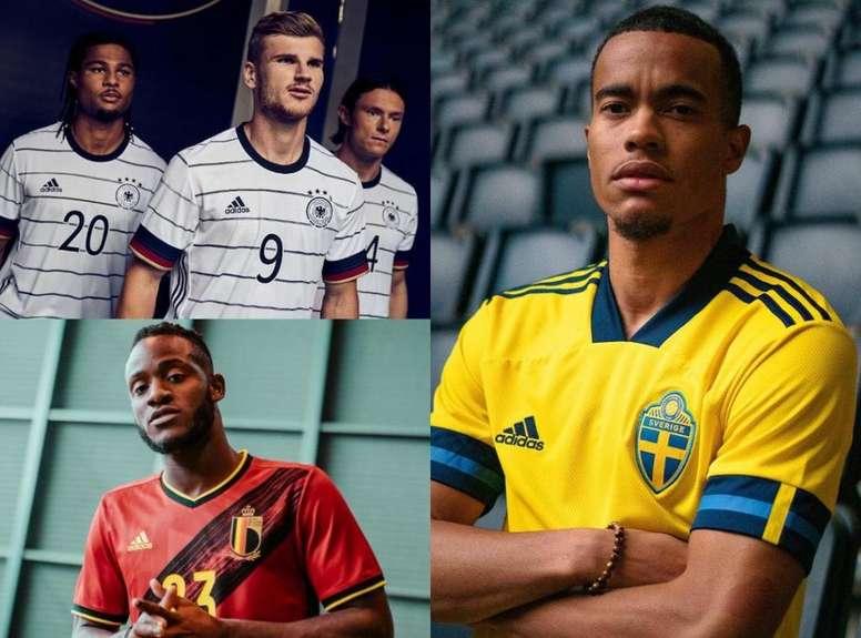 Las nuevas camisetas de Alemania, Bélgica, Inglaterra, Italia... AdidasFootball